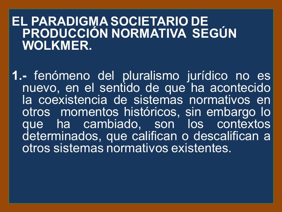 EL PARADIGMA SOCIETARIO DE PRODUCCIÓN NORMATIVA SEGÚN WOLKMER.