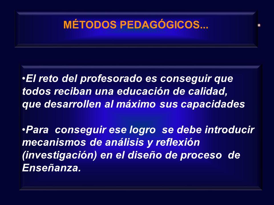 MÉTODOS PEDAGÓGICOS...