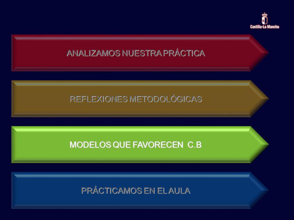 ANALIZAMOS NUESTRA PRÁCTICA REFLEXIONES METODOLÓGICAS MODELOS QUE FAVORECEN C.B PRÁCTICAMOS EN EL AULA