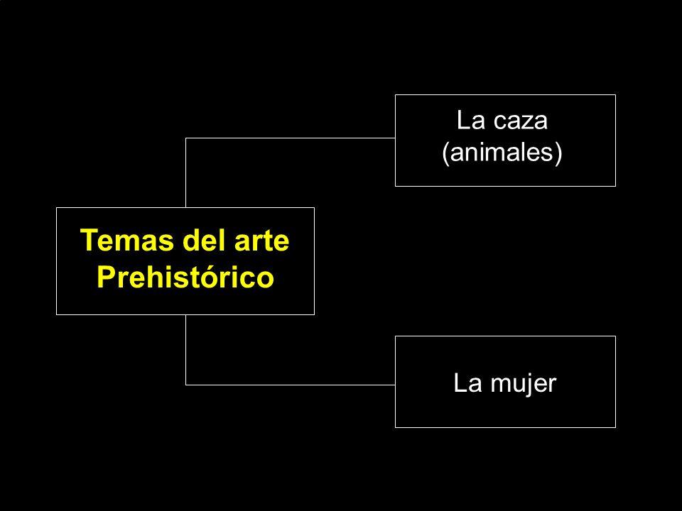 Temas del arte Prehistórico La caza (animales) La mujer