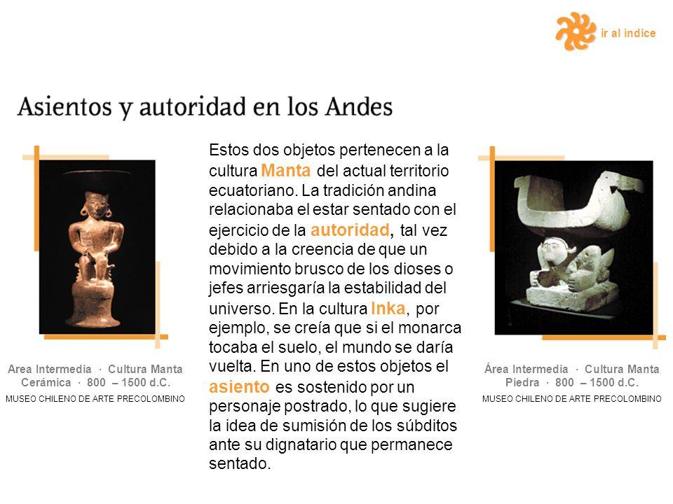 ir al índice Estos dos objetos pertenecen a la cultura Manta del actual territorio ecuatoriano.