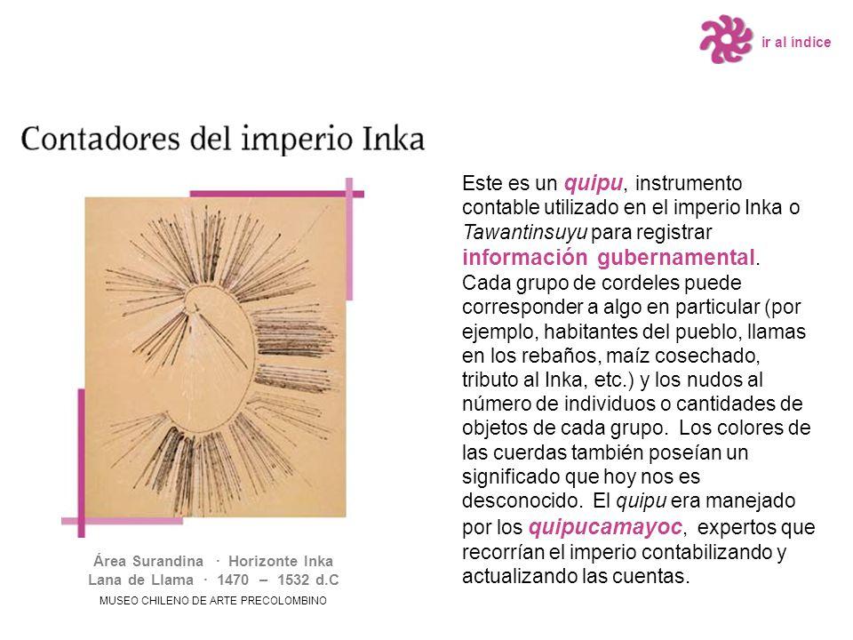 Este es un quipu, instrumento contable utilizado en el imperio Inka o Tawantinsuyu para registrar información gubernamental. Cada grupo de cordeles pu