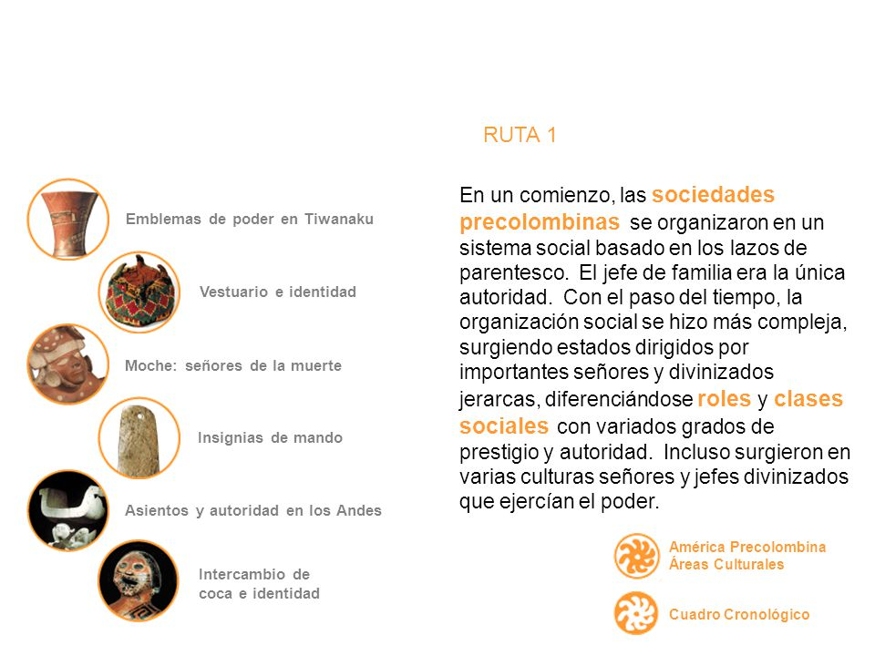 En un comienzo, las sociedades precolombinas se organizaron en un sistema social basado en los lazos de parentesco.