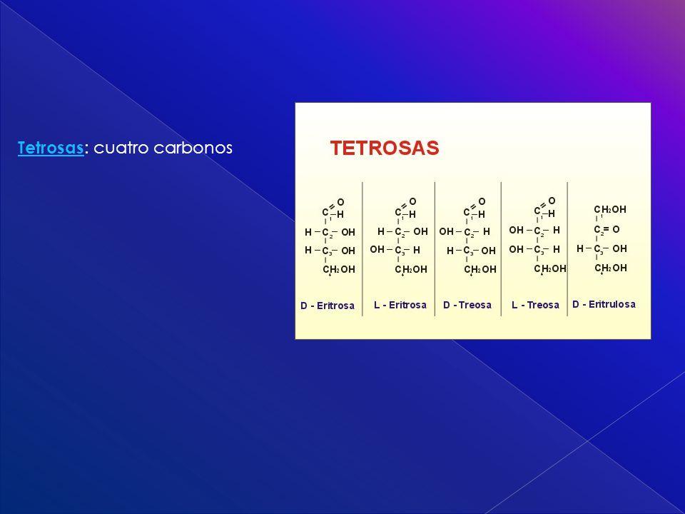 Tetrosas Tetrosas : cuatro carbonos