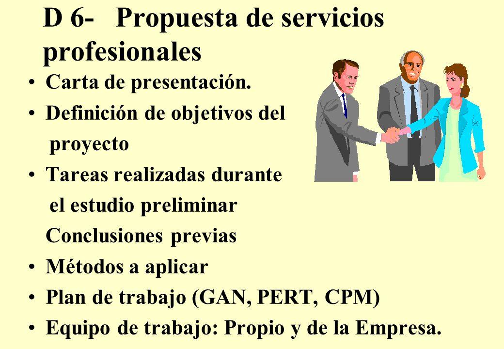 D 6- Propuesta de servicios profesionales Carta de presentación.