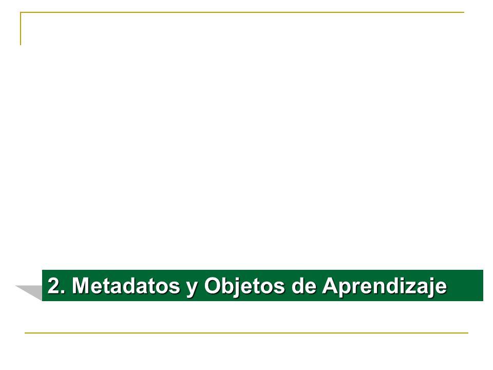 2. Metadatos y Objetos de Aprendizaje