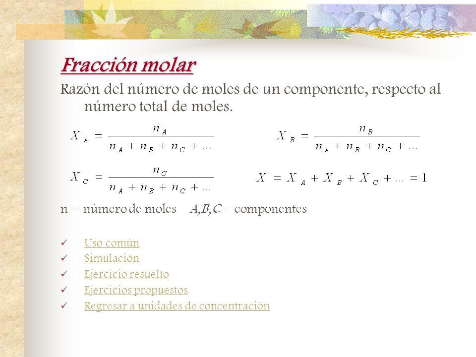 Tanto por ciento en masa - volumen (%m/v) Es la cantidad de masa de soluto por cada mililitro de disolución por 100. Uso común Simulación Ejercicio re