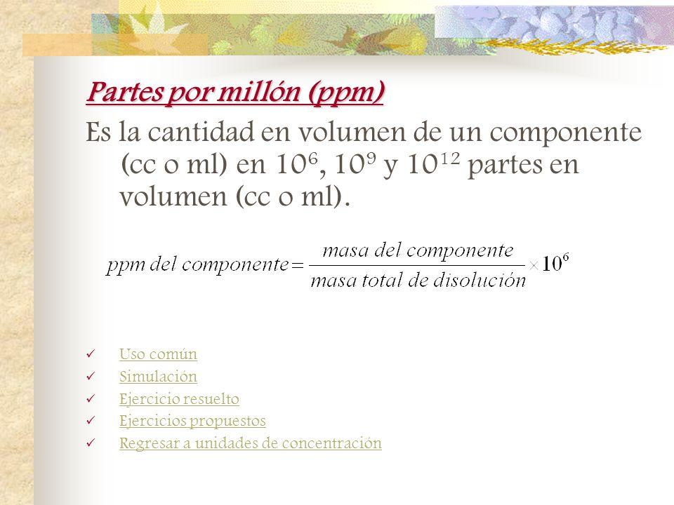 Fracción molar Razón del número de moles de un componente, respecto al número total de moles. n = número de moles A,B,C = componentes Uso común Simula