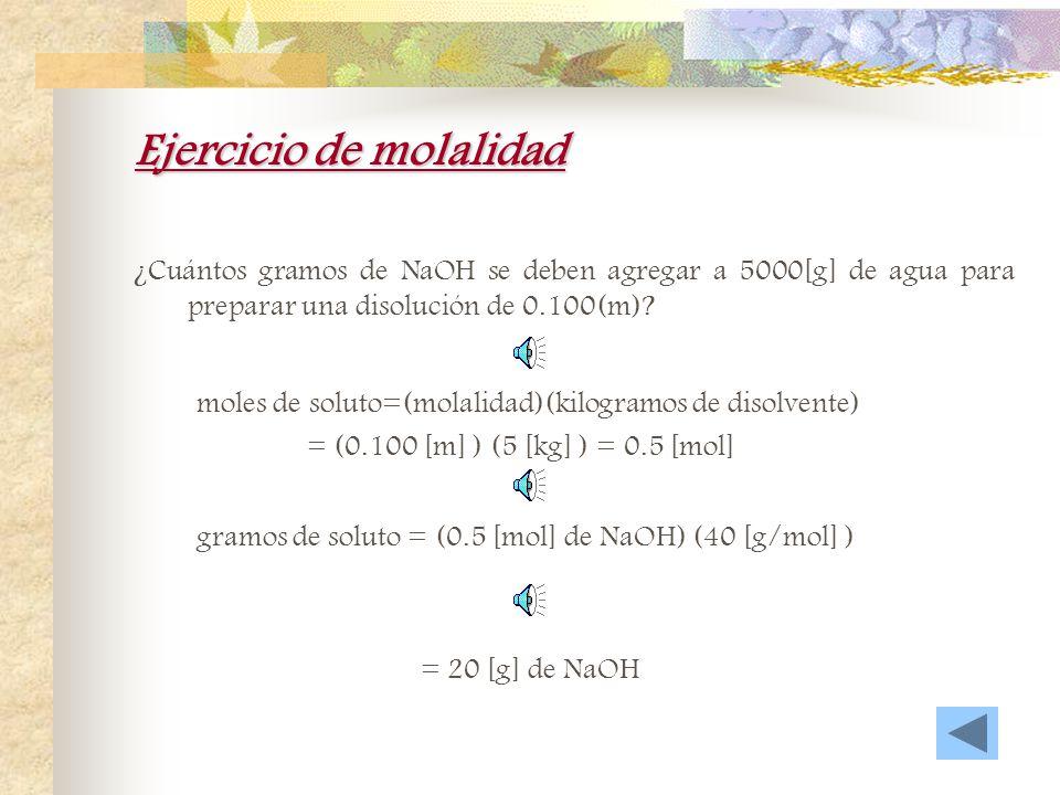 Ejercicio de molaridad Calcule la molaridad de una disolución que contiene 441[g] de HCl disueltos en suficiente agua para formar 1500 [ml] de disoluc