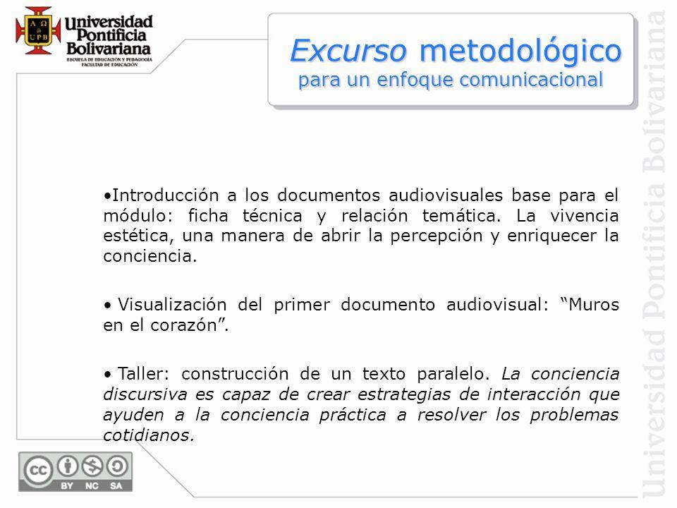 Introducción a los documentos audiovisuales base para el módulo: ficha técnica y relación temática. La vivencia estética, una manera de abrir la perce