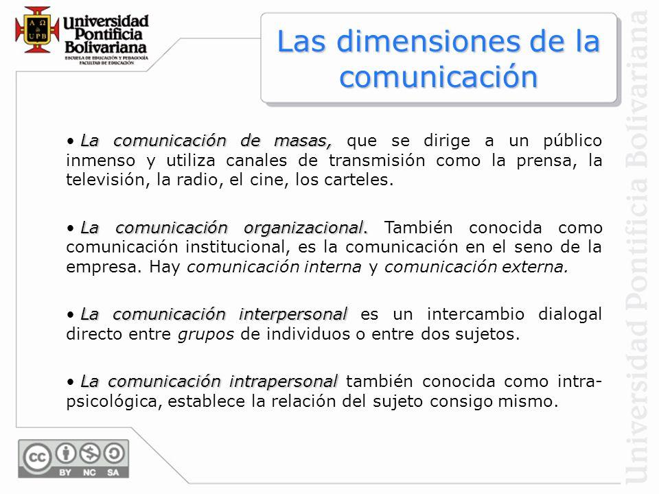 La comunicación de masas, La comunicación de masas, que se dirige a un público inmenso y utiliza canales de transmisión como la prensa, la televisión,