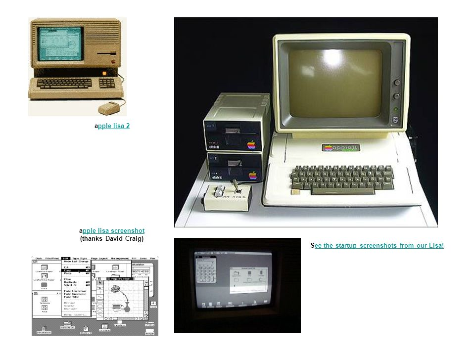 apple lisa 2pple lisa 2 apple lisa screenshot (thanks David Craig)pple lisa screenshot See the startup screenshots from our Lisa!ee the startup screen