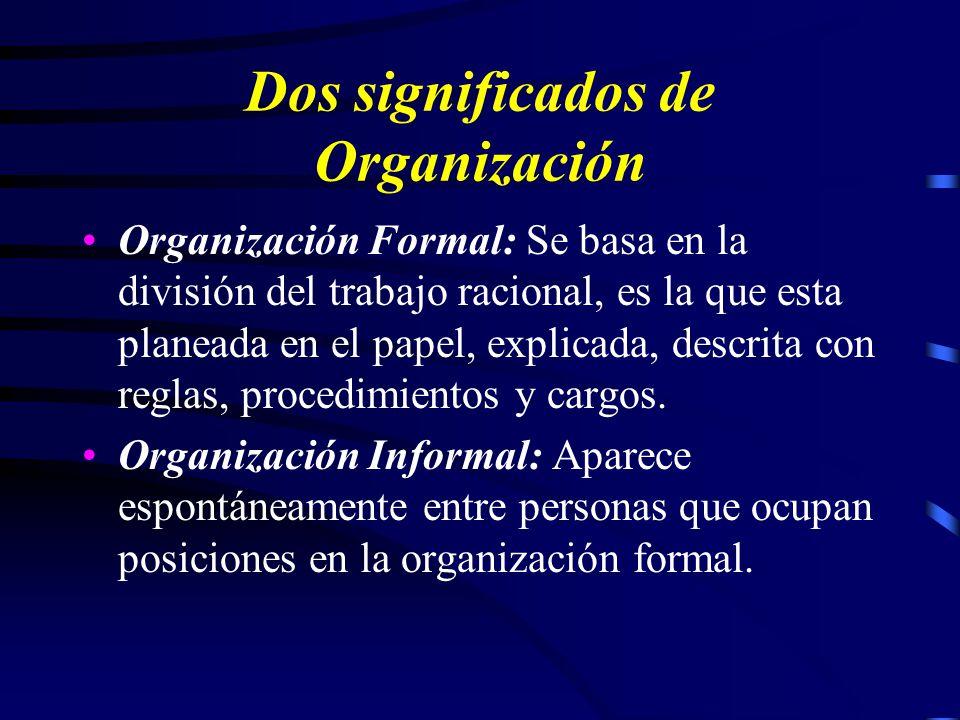 Teoría de la Organización Cadena de Mando y Cadena Escalar de Fayol La teoría clásica concibe la organización en términos de estructura, forma y dispo