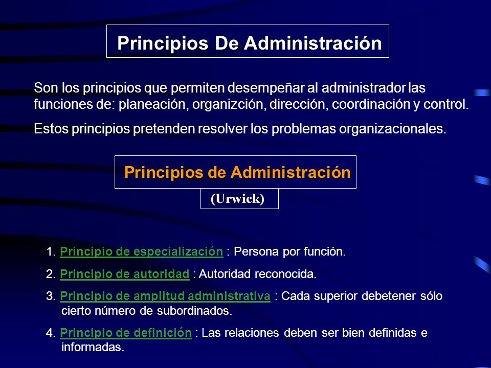 Elementos de la Administración Luther Gulick, propone siete elementos como las principales funciones del administrador: Planeación : Se trazan las metas y se fijan los procesos y métodos.