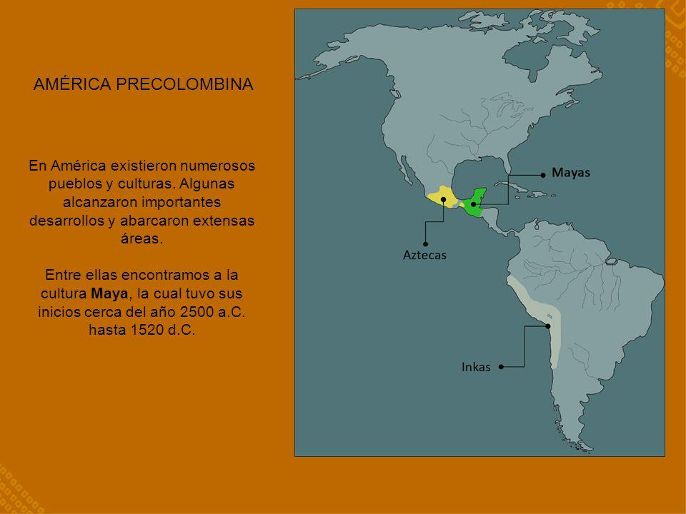 AMÉRICA PRECOLOMBINA En América existieron numerosos pueblos y culturas.