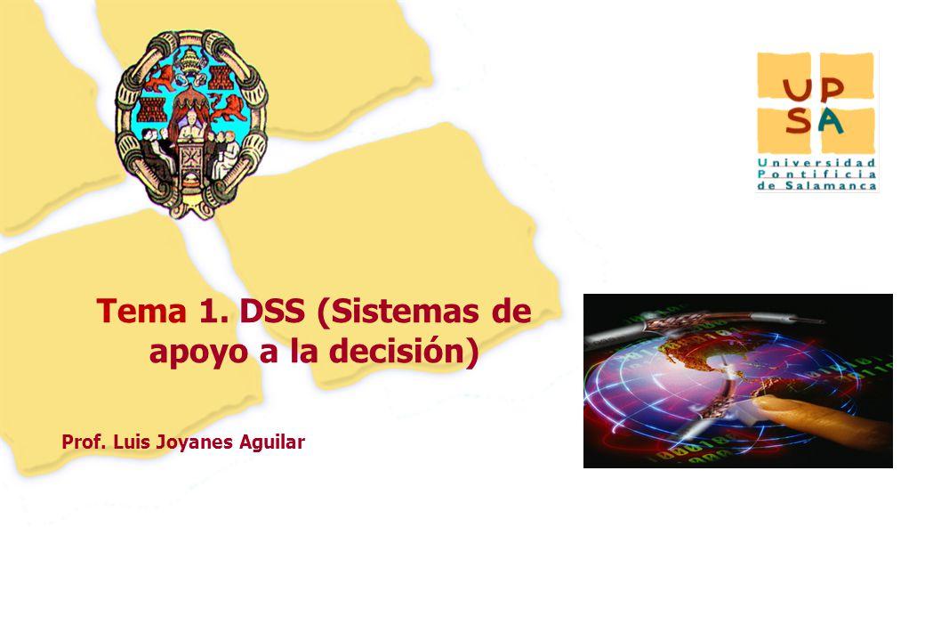 33 Tema 1. DSS (Sistemas de apoyo a la decisión)
