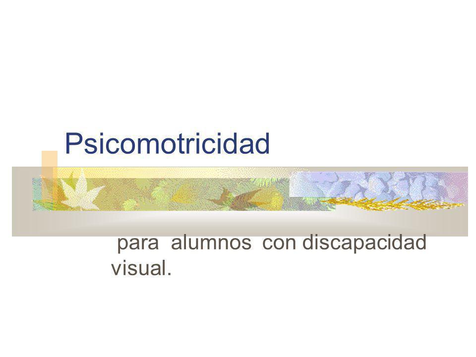 Psicomotricidad para alumnos con discapacidad visual.