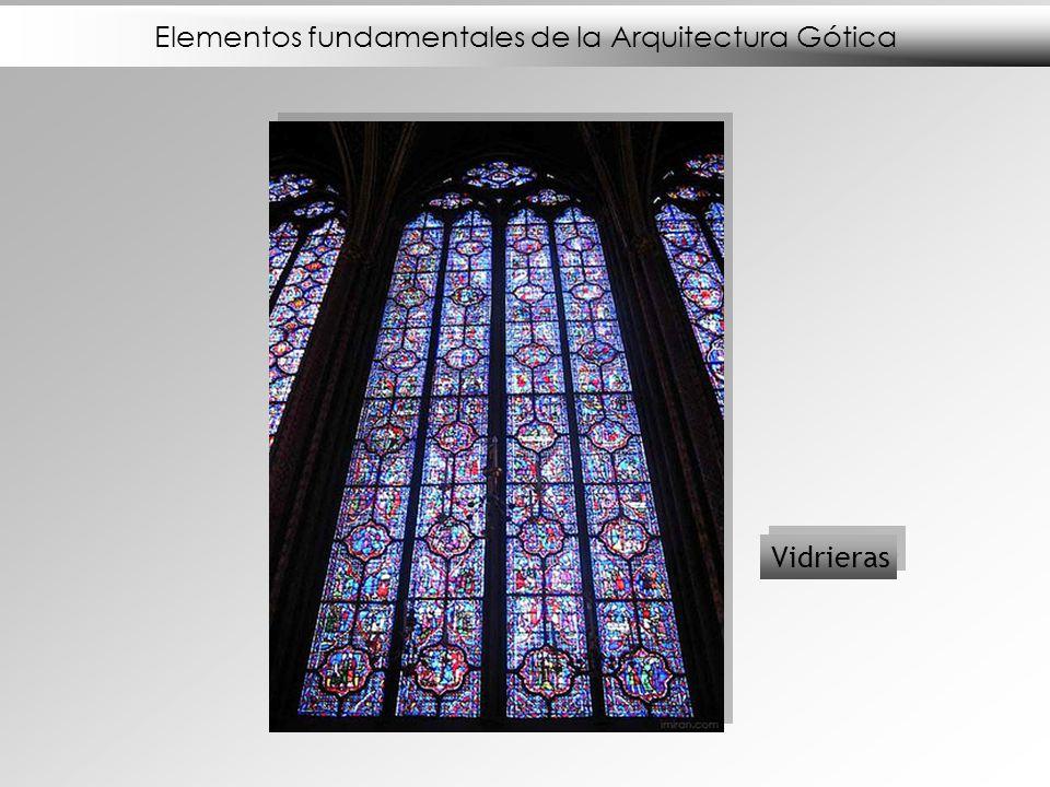 Elementos fundamentales de la Arquitectura Gótica Vidrieras