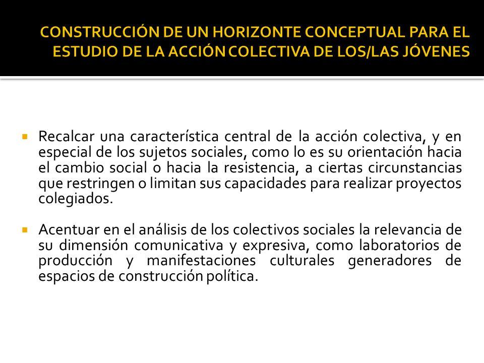 Dimensiones analíticas de la acción colectiva La explicitación de un conflicto social.