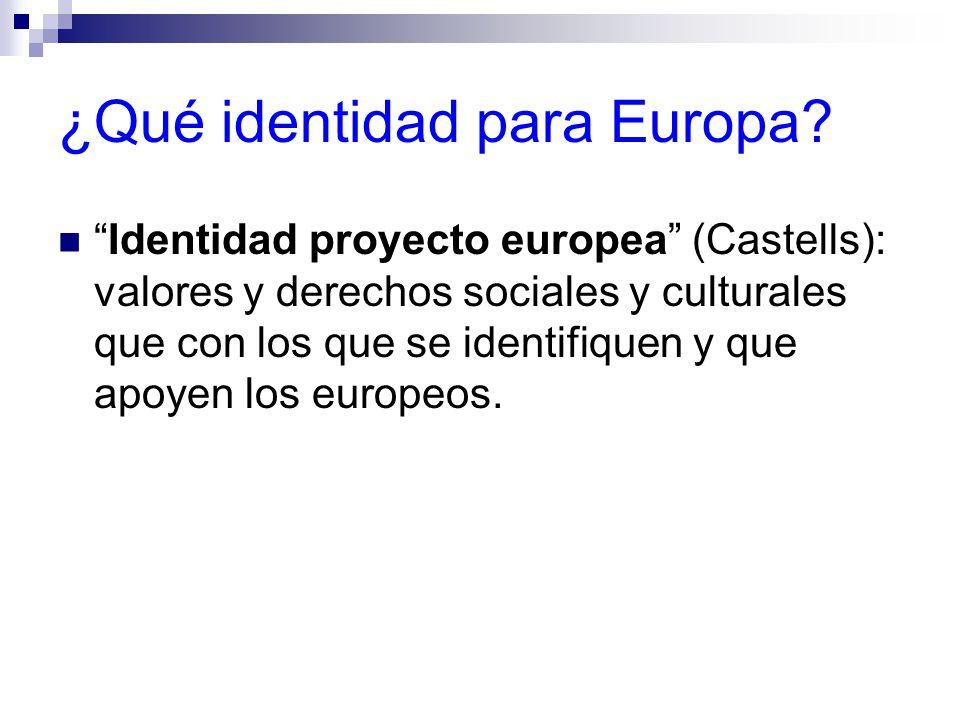 ¿Qué identidad para Europa.
