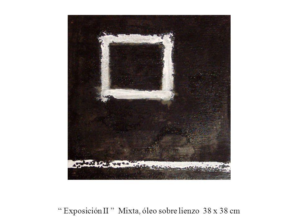 Exposición II Mixta, óleo sobre lienzo 38 x 38 cm