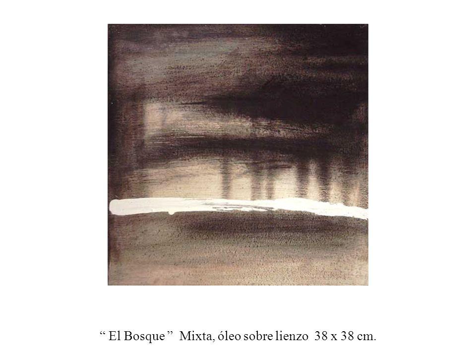 El Bosque Mixta, óleo sobre lienzo 38 x cm.