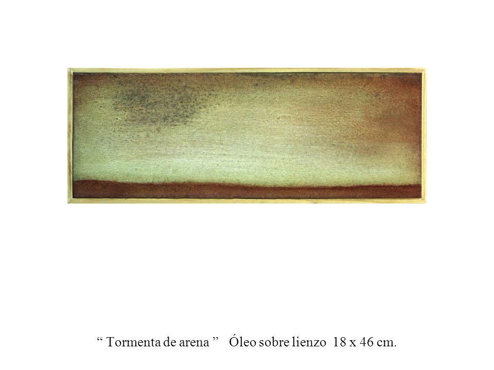 ...a la orilla del mar Mixta, óleo sobre tablero 120 x 200 cm.