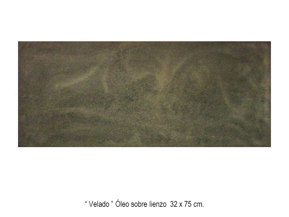 Sin título (homenaje a Fontana) Mixta, óleo sobre tablero 45 x 64 cm.