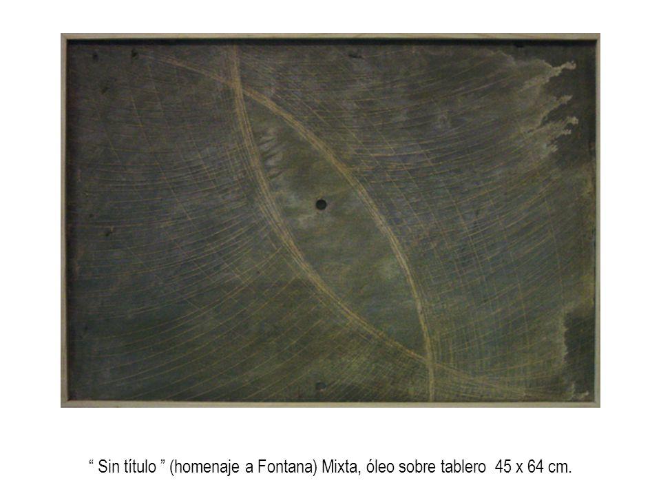 Espacio continuo Óleo sobre tablero 14 x 13 cm.