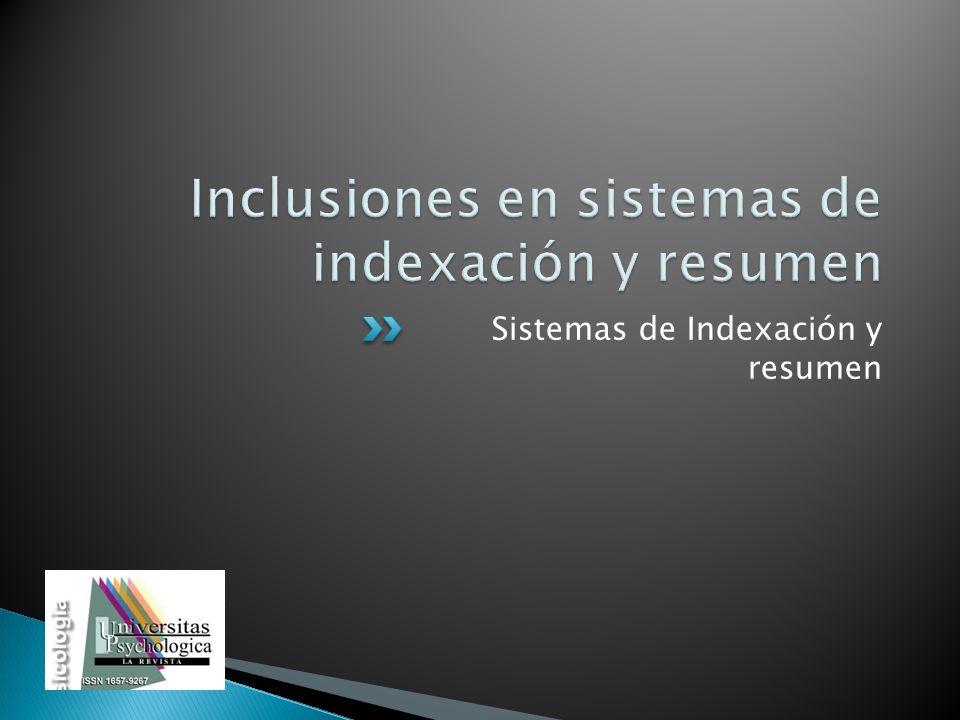 Sistemas de Indexación y resumen