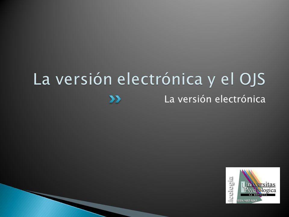 La versión electrónica