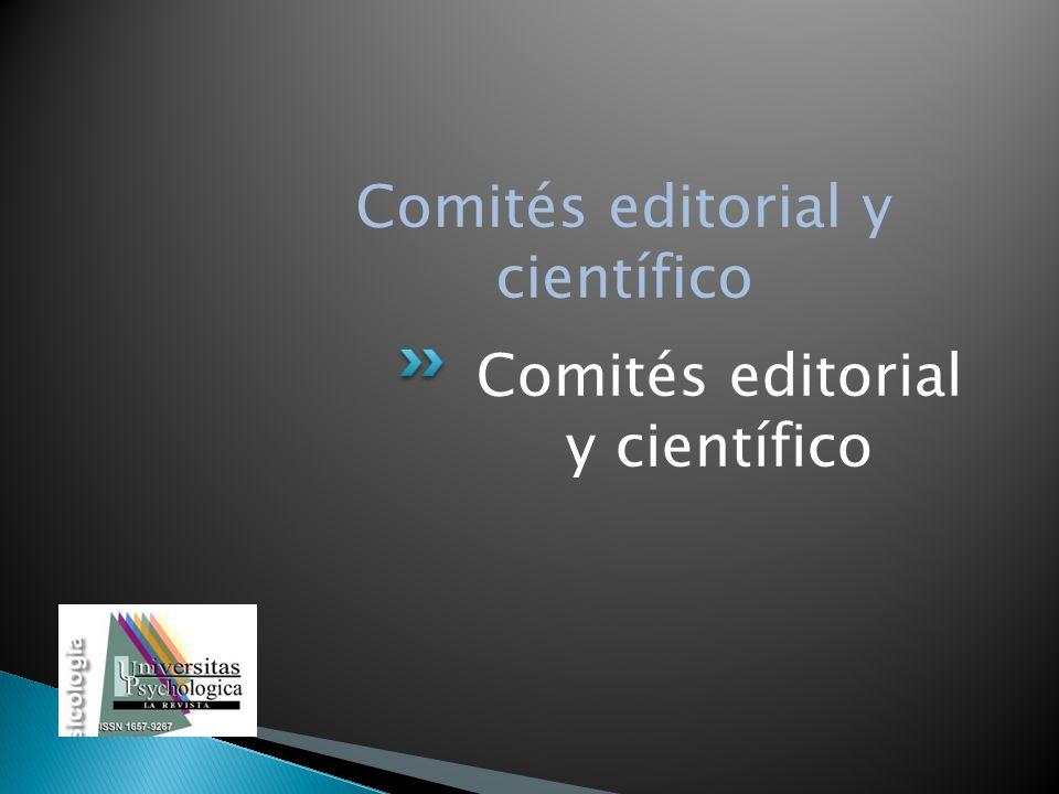 Comités editorial y científico