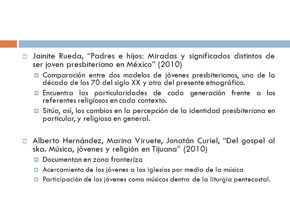 Jainite Rueda, Padres e hijos: Miradas y significados distintos de ser joven presbiteriano en México (2010) Comparación entre dos modelos de jóvenes p