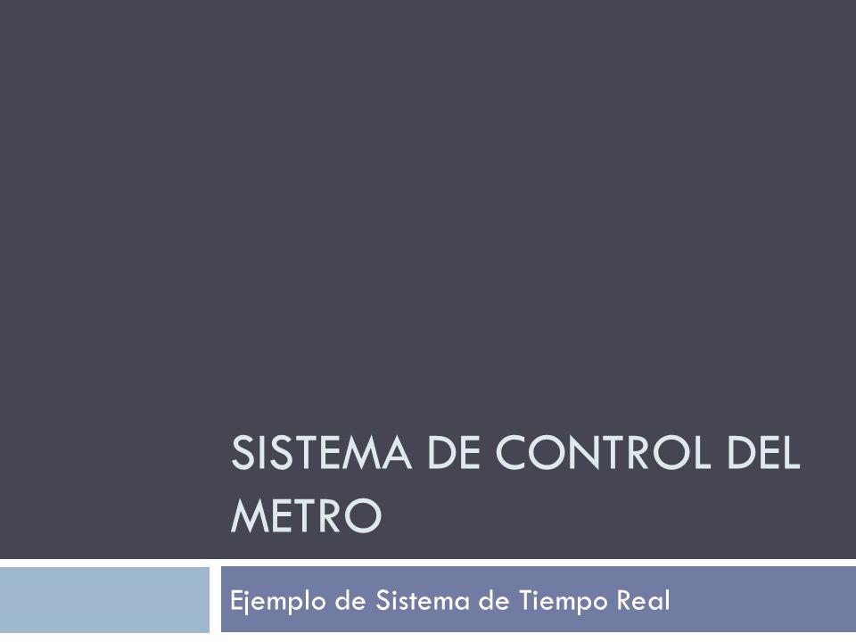 SISTEMA DE CONTROL DEL METRO Ejemplo de Sistema de Tiempo Real