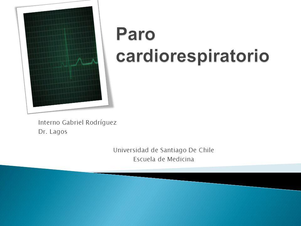 Interno Gabriel Rodríguez Dr. Lagos Universidad de Santiago De Chile Escuela de Medicina