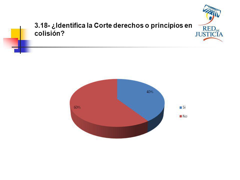 3.18- ¿Identifica la Corte derechos o principios en colisión