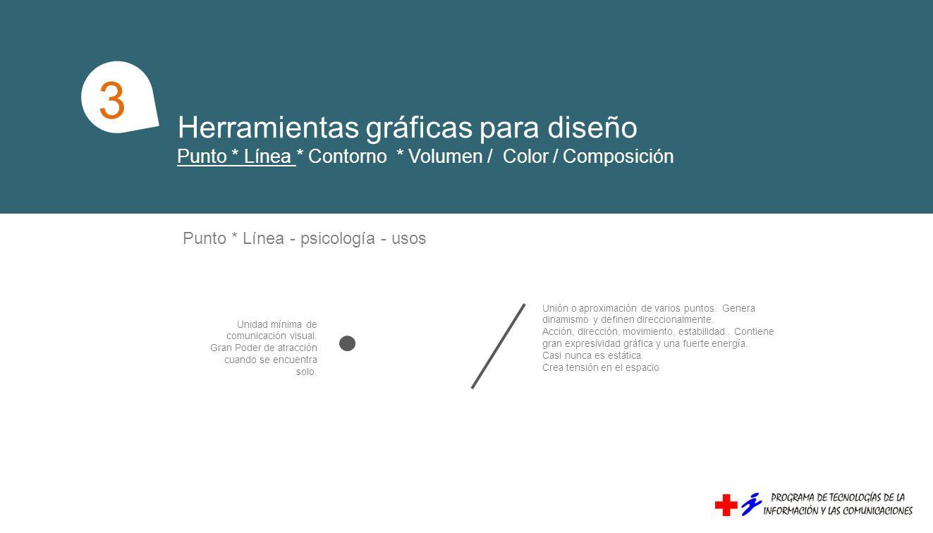Herramientas gráficas para diseño Punto * Línea * Contorno * Volumen / Color / Composición Unidad mínima de comunicación visual. Gran Poder de atracci