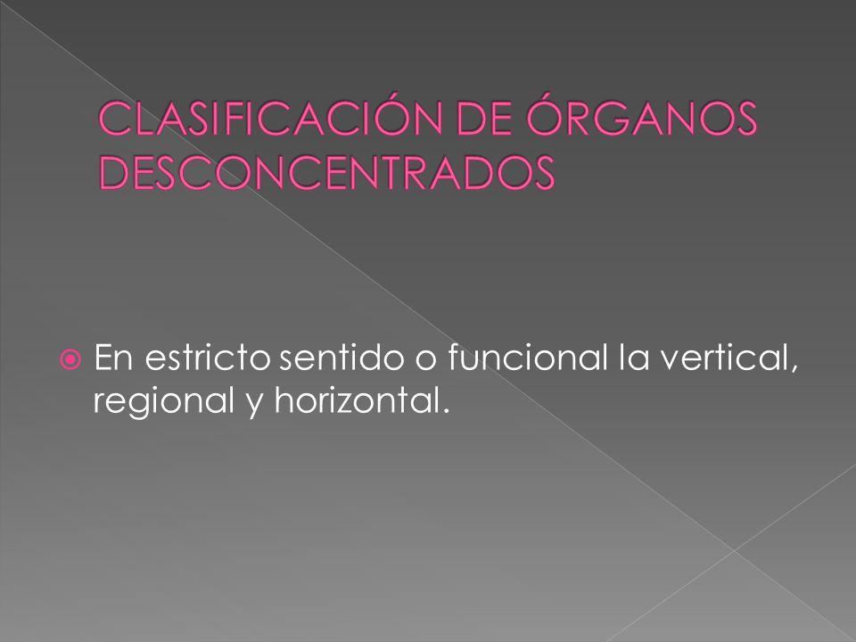 En estricto sentido o funcional la vertical, regional y horizontal.