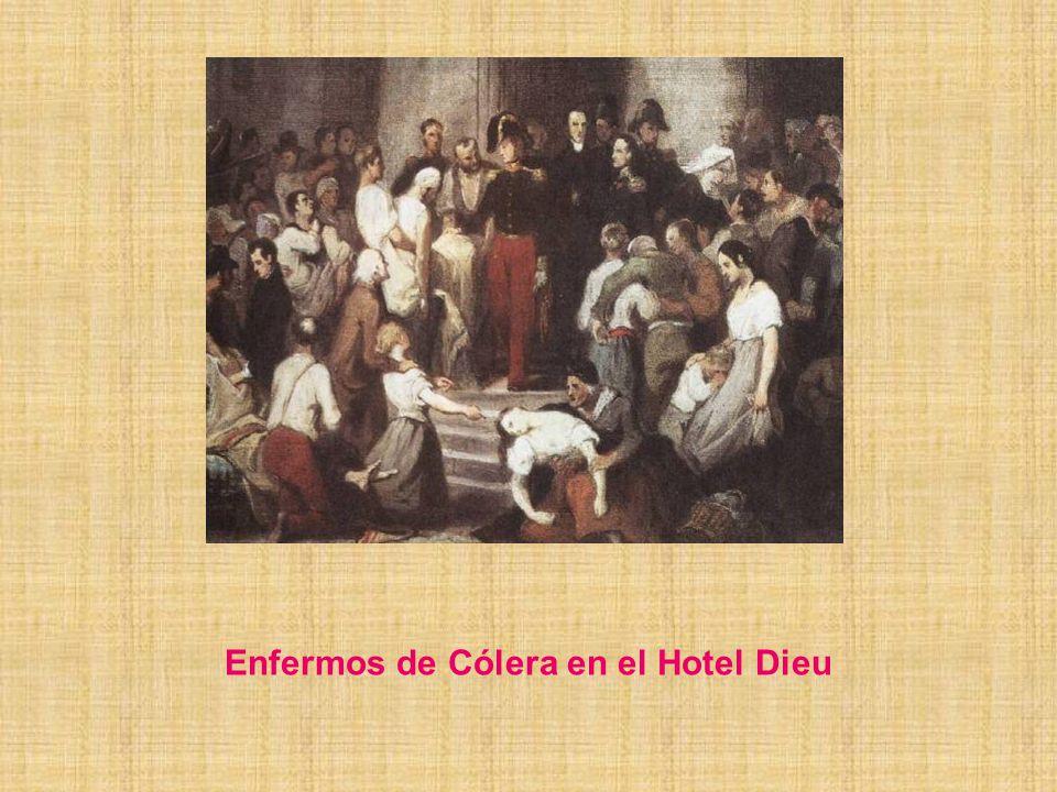 Enfermos de Cólera en el Hotel Dieu
