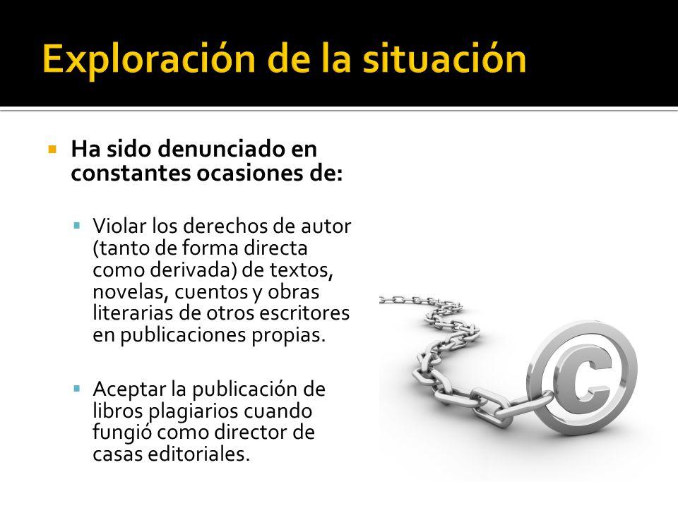 Ha sido denunciado en constantes ocasiones de: Violar los derechos de autor (tanto de forma directa como derivada) de textos, novelas, cuentos y obras