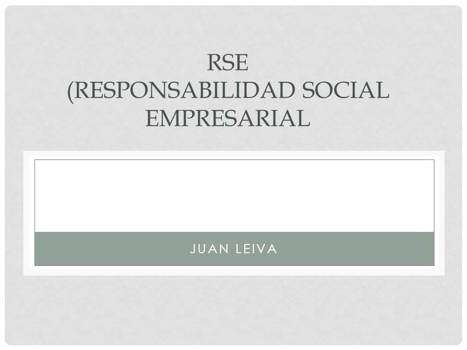 RSE (RESPONSABILIDAD SOCIAL EMPRESARIAL JUAN LEIVA