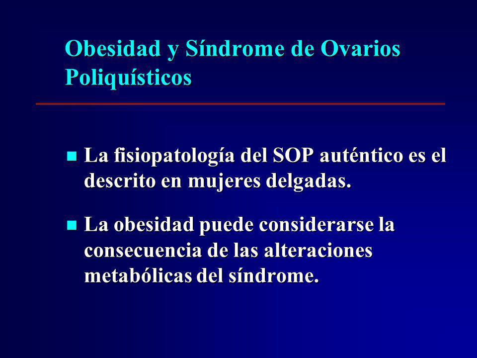 La fisiopatología del SOP auténtico es el descrito en mujeres delgadas. La fisiopatología del SOP auténtico es el descrito en mujeres delgadas. La obe
