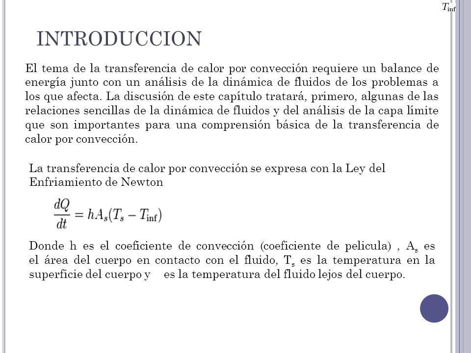 El tema de la transferencia de calor por convección requiere un balance de energía junto con un análisis de la dinámica de fluidos de los problemas a