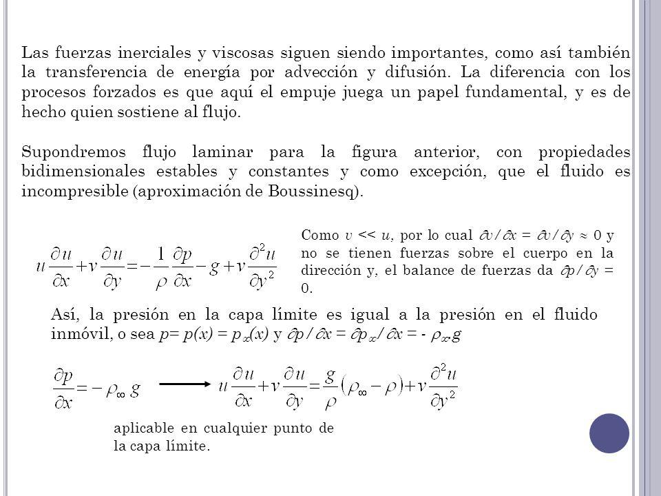 Las fuerzas inerciales y viscosas siguen siendo importantes, como así también la transferencia de energía por advección y difusión. La diferencia con