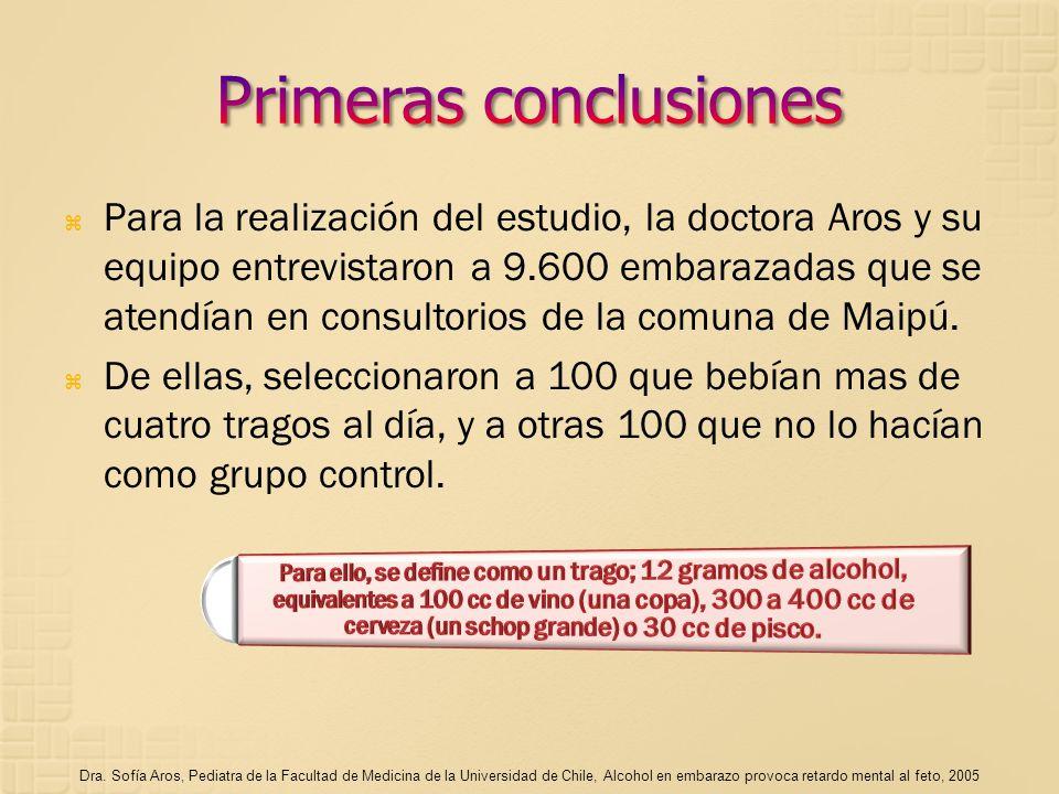 Para la realización del estudio, la doctora Aros y su equipo entrevistaron a 9.600 embarazadas que se atendían en consultorios de la comuna de Maipú.