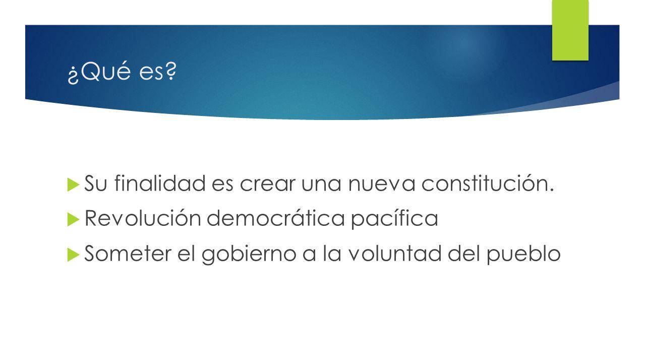 2 ¿Qué es. Su finalidad es crear una nueva constitución.