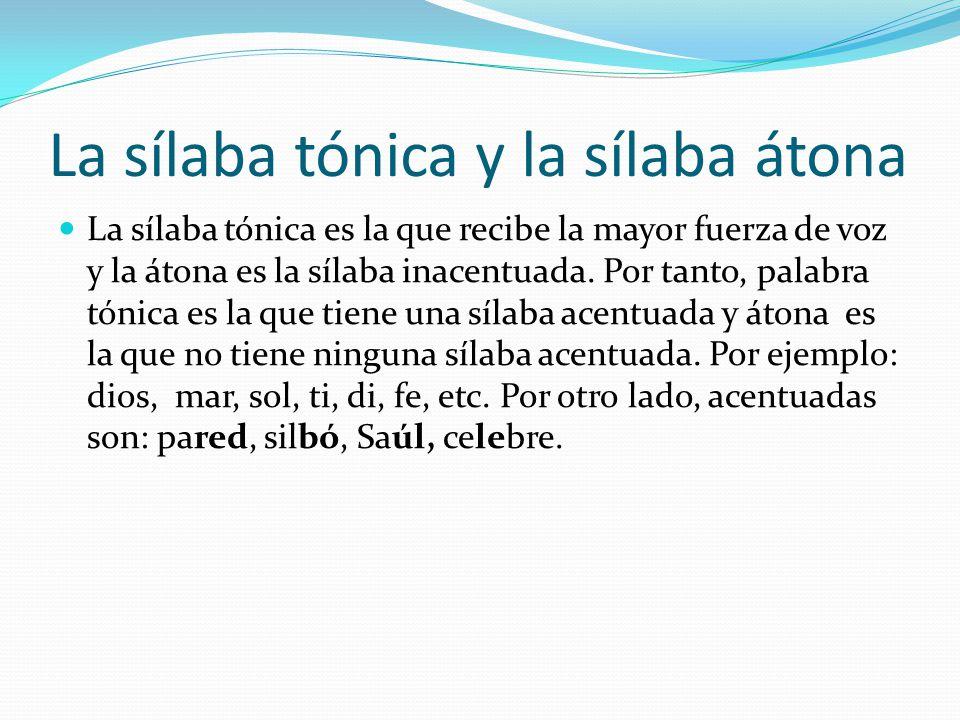 Función del acento El acento nos sirve para pronunciar correctamente las palabras y además dependiendo la sílaba en la que recae tiene un rasgo distintivo.