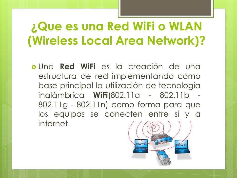 WIFI ALLIANCE Existe una organización llamada WI-FI ALLIANCE que agrupa a todos los miembros de la industria, o sea, los que producen hardware y software para WI-FI.