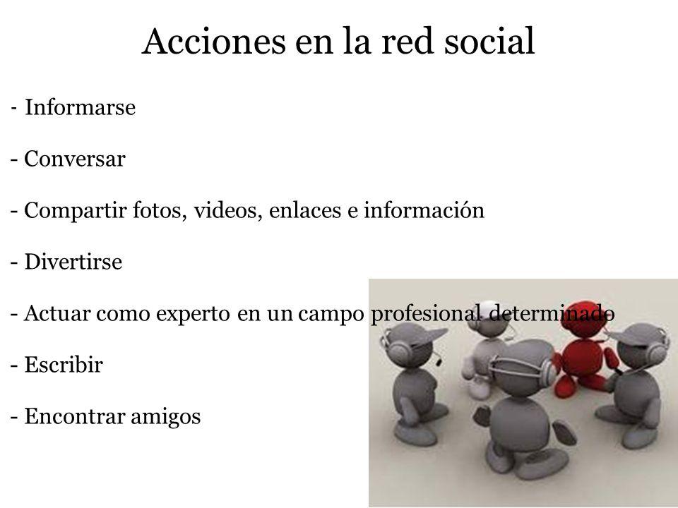 -Se desarrollan en tres ámbitos -de actuación: -comunicación( intercambio de conocimiento) -cooperación(compartir recursos) -y comunidad(integración d