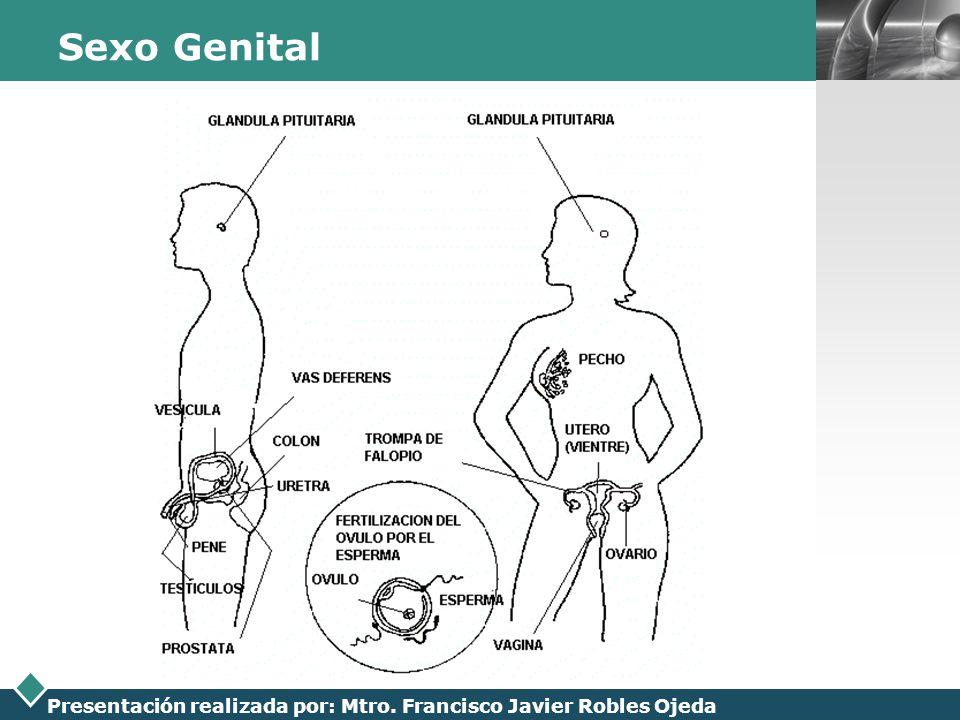 LOGO Presentación realizada por: Mtro. Francisco Javier Robles Ojeda Sexo Genital